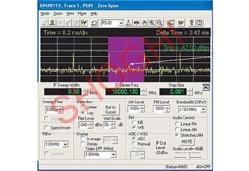 Microwave Interception System Receiver Control Window