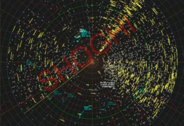 Typical view of a Jammed Radar using SCL-SSCTS