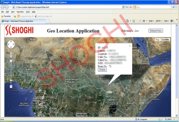Tracking of Thuraya Targets on Digital Map