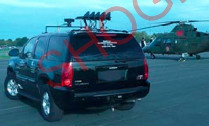 Integration of RCIED  Jammer in Vehicle showing Antenna on the roof