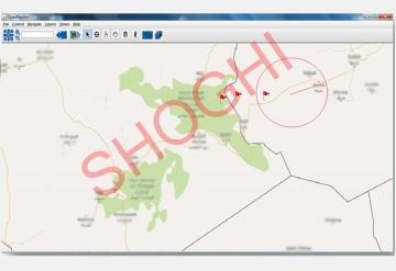 Tracking of IsatPhone Pro Targets on Digital Map