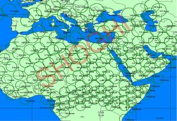 Tracing of Thuraya Spot Beams on Digital Map During C-band Scanning