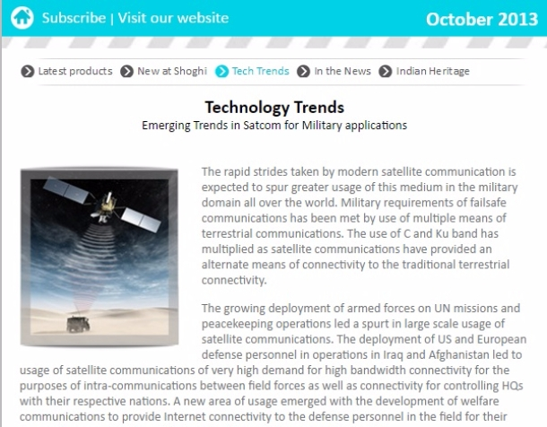 Emerging Trends in Satcom for Military applications